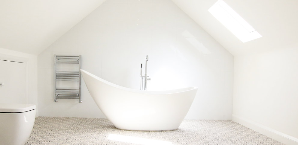 A bright bathroom with double glazing