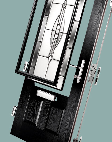 Composite front door expanded diagram