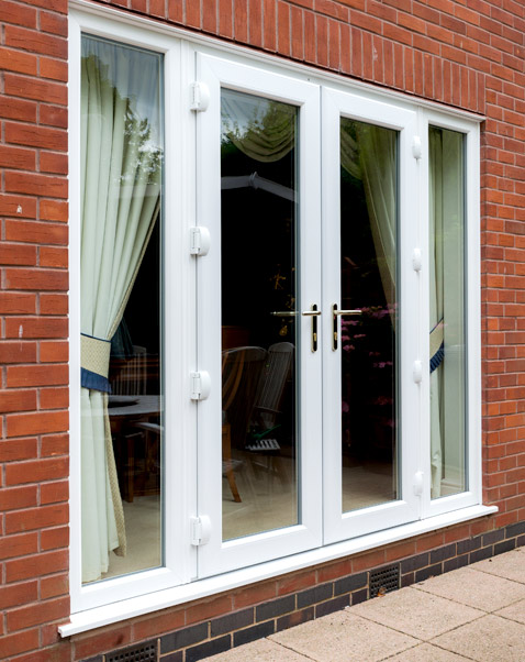 French doors white 4 panel