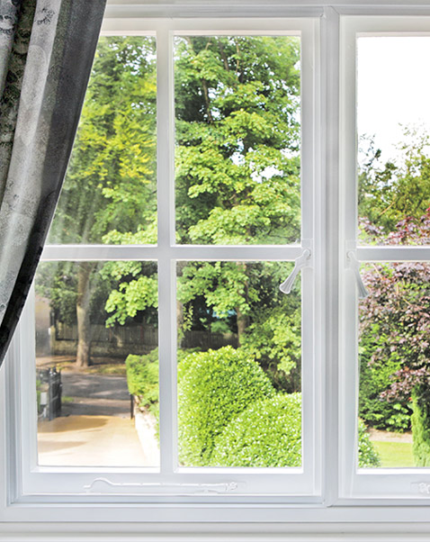 Secondary glazing on wooden sash windows