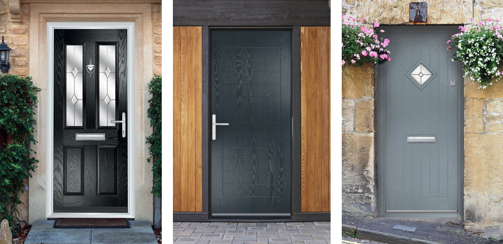 3 different front door styles