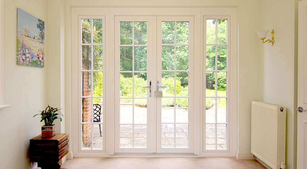 French doors with garden beyond
