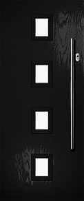 Black 4 Top Composite Door