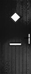 Black Cottage Diamond Composite Door