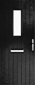 Black Cottage Short Composite Door