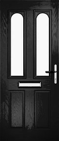 Black Dual Glazed Arch Composite Door