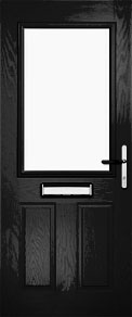 Black Half Glazed Composite Door