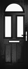Black Half Moon and Mids Composite Door