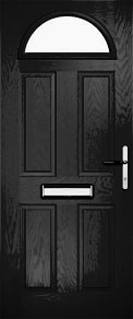 Black Half Moon Composite Door