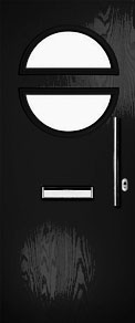 Black Porthole Composite Door