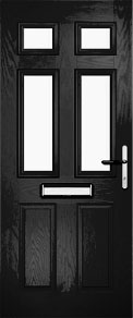 Black Tops and Mids Composite Door